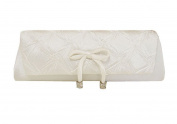 White Clutch Evening Bag with Detachable Straps