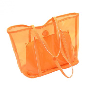Top Shop Womens Casual Tote Transparent Handbag Shoulder Composite Bags Satchels