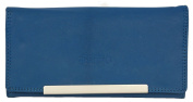 Women's Blue Genuine Leather Wallet Roberto