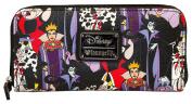 Loungefly Disney Female Villains Evil Queen Maleficent Cruella Ursula Wallet