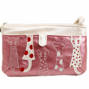 E.a@market Mini Portable Cat Pattern Pu Coin Purse