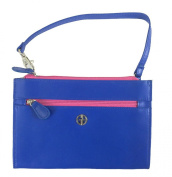 Giani Bernini Women's Recycled Leather Wristlet Blue Pink