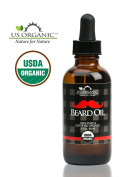 US Organic Beard Oil 60ml - Certified USDA Organic, Natural Antimicrobial Properties, Handcrafted in the USA