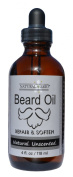 Natural Brio Premium Unscented Beard Oil - Condition, Soften and Repair, 120ml