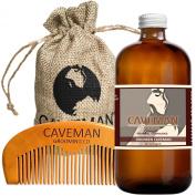 Hand Crafted Caveman Drunken Caveman (Bay Rum) Beard Oil Leave in Conditioner, 30ml oil and FREE Handmade Comb (Drunken Caveman