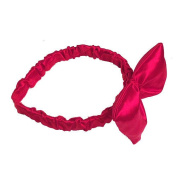 A Wish Come True Red Satin Bow Headband