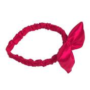 A Wish Come True Red Satin Bow Headband