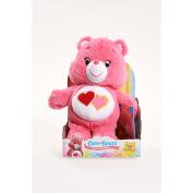 Care Bear Medium Plush with DVD - Love-a-Lot Bear