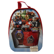 The Avengers LCD Watch Backpack Set