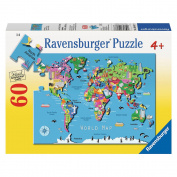 World Map Puzzle - 60-Piece