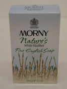 4 x Morny Nature's White Heather Perfumed Fine English Soap 4x100g100ml