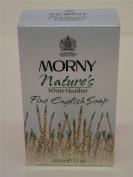 4 x Morny Nature's White Heather Perfumed Fine English Soap 4x100g100ml