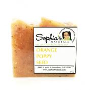 Sophia's Naturals - Orange Poppyseed Vegan Soap Bar - 180ml