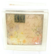 Soft Pink floral Postcard theme soap, Pretty as a picture soap