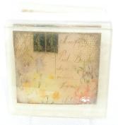 Soft Pink floral Postcard theme soap, Pretty as a picture soap