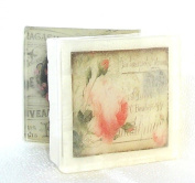 Rose Bud Postcard theme soap, Pretty as a picture soap