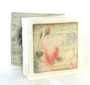 Rose Bud Postcard theme soap, Pretty as a picture soap