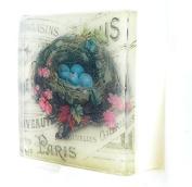 Birds nest postcard theme soap, Paris theme Pretty as a picture soap