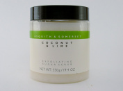 Asquith & Somerset Coconut & Lime Exfoliating Sugar Scrub, 570ml, Imported From England