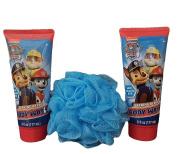 Nickelodeon Paw Patrol Barking Berry Body Wash + Bath Pouffe Gift Set