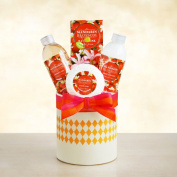 Refreshing Mandarin Blossom Spa Gift Basket for Women