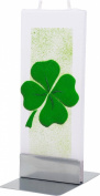 Flatyz Twin Wick Unscented Thin Flat Candle - Shamrock - Clover