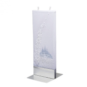 Flatyz Twin Wick Unscented Thin Flat Candle - Snow Scene