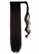 Wrap Around Synthetic Ponytail One Piece Heat Resistant Magic Paste Pony Tail Long Straight Soft Silky for Women Lady Girls 70cm / 70cm