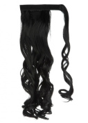 Wrap Around Synthetic Ponytail One Piece Heat Resistant Magic Paste Pony Tail Long Wavy Curly Soft Silky for Women Lady Girls 60cm / 60cm