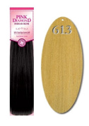 Pink Diamond Human Hair Extensions - Remi Skin Wf Ext 41cm - #613 Light Blonde - Size