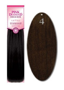 Pink Diamond Human Hair Extensions - Remi Spanish Wave 36cm - #4 Dark Brown - Size