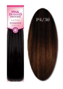 Pink Diamond Human Hair Weave - Remi Yaki 25cm - #P4/30 Piano Dark Blonde - Size