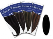 Urban Beauty Human Hair Extensions - Closure Long - #1 Black - Size