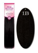 Pink Diamond Human Hair Weave - Remi Yaki 30cm - #1B Black - Size