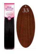 Pink Diamond Human Hair Weave - Remi Yaki 30cm - #33 Red - Size