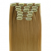 ISABELLE HAIR Straight 50cm 7pcs Fashion Full Head 16 Clips in Synthetic Hair Extensions 140g