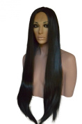 Long, Straight, Silky, Lace Front Wig with Centre Part.