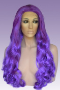Purple, Long, Lace Front Wig