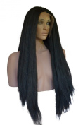 Long, Straight, Yaki, Lace Front Wig. 1b