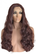 Long, Auburn, Synthetic, Lace Front Wig