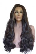 Brown Black, Curly Lace Front Wig Colour #2