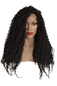 Black, Wavy, Water Wave Style, Lace Front Wig Colour 1b