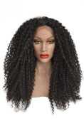 Black, Curly, Afro Style, Lace Front Wig Colour 1b