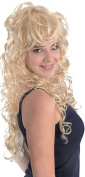 Ladies Fancy Dress 1980s Party Rock Chick Curly Long Fake & Artificial Wig