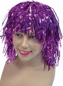 Ladies Fancy Dress Cheerleader Party Short Tinsel Fake & Artificial Wig