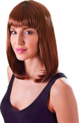 Ladies Fancy Dress 1980s Party Chic Doll Straight Short Fake & Artificial Wig