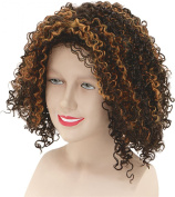 Ladies Fancy Dress Disco Party Mel B Scary Spice Short Curly Fake Artificial Wig