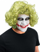 Mens Fancy Dress Clowns & Circus Party Mad Man Curly Short Fake & Artificial Wig