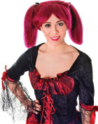 Ladies Fancy Dress Party Steampunk Short Fake & Artificial Wig Burgundy