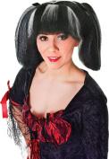 Ladies Fancy Dress Party Steampunk Short Fake & Artificial Wig Burgundy
